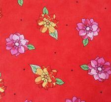Summer Garden Kate Knight BTY Quilting Treasures Floral Bright Orangish Red