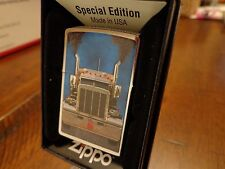 SEMI TRUCK DIESEL TRACTOR TRAILER TRUCKER ZIPPO FLAME ZIPPO LIGHTER MINT IN BOX
