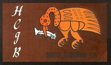 "QSL ""HCJB"" 15.300 MHz Radio Quito S A Primitive Art Shortwave DX SWL 1969"