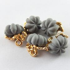 10pcs/Lots Gold Alloy Electroplated Gray Pumpkin Charms Pendant DIY Accessories