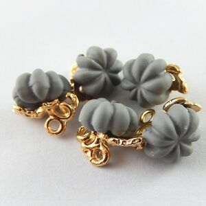 10 Alloy Gray Pumpkin Charm Halloween Pendant Earring Dangle Jewelry DIY 12*10mm