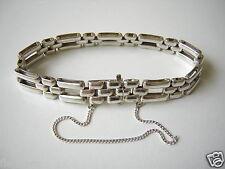 Antikes Armband aus 835 Silber mit Sicherheitskette 23,6 g/Länge 18 cm