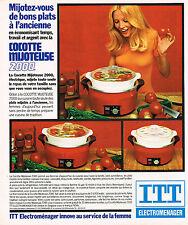 PUBLICITE ADVERTISING 035  1977  ITT OCEANIC  la cocotte-mijoteuse 2000 éléctrom