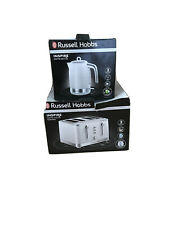 Russell Hobbs Inspire White Kettle And 4 Slice Toaster set