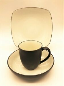 Noritake® Colorwave Square 3-Piece Place Setting in Chocolate