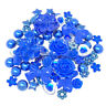 80 Mix Royal Blue Shabby Chic Resin Flatbacks Craft Cardmaking Embellishments