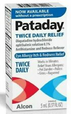 Box Lot of 2 Pataday Eye Allergy Itch Redness Relief 5 ML No Prescription Needed