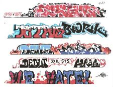 G SCALE GRAFFITI DECALS G27 FROM REAL GRAFFITI PHOTOS