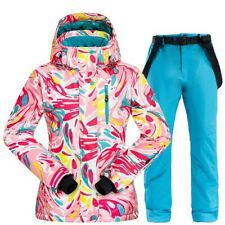 Ski Suit Women Thick Waterproof Windproof Skiing Snowboarding Jacket Pants Set