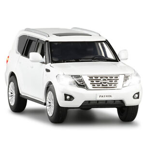 1/32 Nissan Patrol Y62 Metal Diecast Model Car Toy Collection Sound&Light Gift