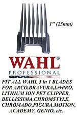 """Wahl 1"""" (25mm) Attachment GUIDE 5 in 1 Blade COMB -Arco,Chromado,Bravura Clipper"""