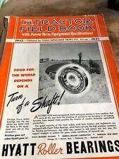 original vintage tractor field books Nebraska tests, 1943,1944,1945