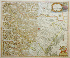 ITALIEN ITALY TERRITORIO DI BOLOGNA WAPPEN VIA EMILIA MODENA BLAEU KOLORIT 1640