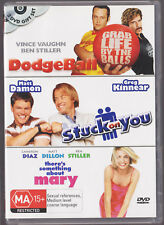 LIKE NEW R4 DVD Dodge Ball Stuck on You There's Something about Mary 3 DISC PACK