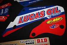 HONDA  CR125  98-99 & CR250 97-99  LUCAS OIL MX GRAPHICS DECALS KIT STICKERS