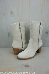 UGG LYNDA NATURAL SUEDE HIGH HEEL   WOMENS BOOTS US 9.5 NIB