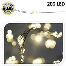 200er Mini LED Light String Drahtlichterkette Indoor Outdoor Warm White