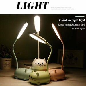 Table Lamp Cartoon Cute Pet Cat Night Light Usb Rechargeable Led Table Light #7