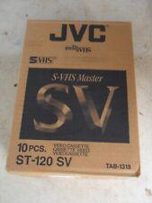 Zehn Nagelneu Versiegelt JVC S-VHS 6 Stunden VHS Kassetten st-120 SV QTY 10