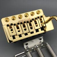 Genuine Wilkinson Guitar Tremolo Vibrato Bridge Fixed 6 Screws Gold Chrome