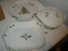 Vintage New Fairwinds Porcelain Plus Soup Terrain, Plate, Bowl Christmas (H)