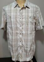 Arc'Teryx Mens Short Sleeve Button-Up Shirt Large Multicolored Plaid