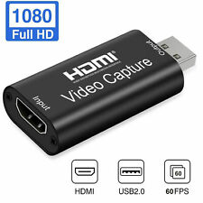 Capture Card -HDMI to USB 2.0 Game Video Audio Live Grabber Card HD 1080P 60FPS#