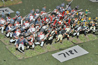 25mm napoleonic / french - infantry 36 figs painted metal - inf (7181)