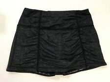 Athleta Womens Metallic Black Ruched Ahtletic Skort Size S