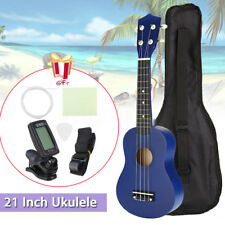21'' Economic Soprano Ukulele Beginner Uke Start Pack with Gig bag, Tuner, BLUE