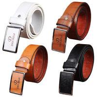Mens PU Leather Dress Belt Casual Pin Buckle Waist Strap Belts Waistband 4Colors