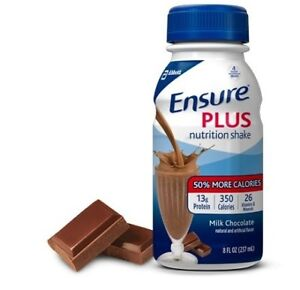 Ensure Plus Complete Nutrition Shake Creamy Milk, Chocolate, 8 oz, 1 ct