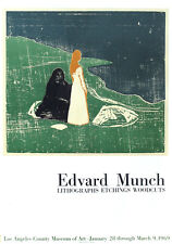 Edvard MUNCH (1863-1944) Lithographie 1969 L.A. Museum County of Art par Mourlot