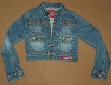 Womens Juniors BORRY 9 JEANS JACKET Size L Large Short Style