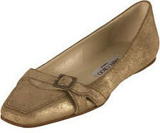 Jimmy Choo Coarse Gold Suede Flats Size 38 1/2  $495