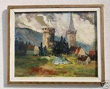 A. PIROTTE ....... Landschaft  mit Schloss in Frankreich