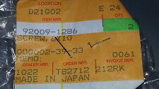 NOS KAWASAKI OEM Screw 6x10 Qty 2 KX KDX KLX ZR 60 80 125 650 750 900 92009-1286