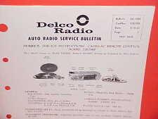 1963 CADILLAC FLEETWOOD 75 LIMOUSINE UNITED MOTORS DELCO GM RADIO SERVICE MANUAL