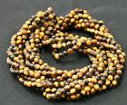 Twist A Bead Genuine 1980's Original Necklace 32-36 inch strands-TIGER EYE 1 str