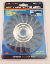 """4-1/2"""" X 9/16"""" Knot Wire Wheel Brush - FINE Knotted Wheel For Grinders, Drills"""