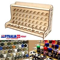 50 Pots Wooden Pigment Bottle Storage Organizer Color Paints Stand Rack Holder