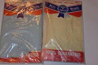 2 PR VINTAGE 1950s MEN'S NEW BOXER SHORTS! SANFORIZED BROADCLOTH COTTON! NOS! 28