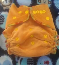1 New Peach Bamboo Velour Cloth Diaper Nappy Adjustable 8-33lbs, Free Insert!