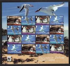 ASCENSION MNH 2011 WWF BIRDS - RED BILLED TROPIC BIRD SHEET
