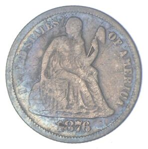 Historic 1876 Seated Liberty Dime *901