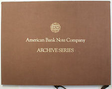1987 American Bank Note Company Archive Series Volume One