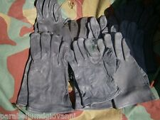 Guanti militari pelle tedeschi Bundeswehr, German military grey leather gloves