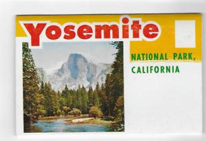 POSTCARD FOLDER-YOSEMITE NATIONAL PARK-CALIFORNIA
