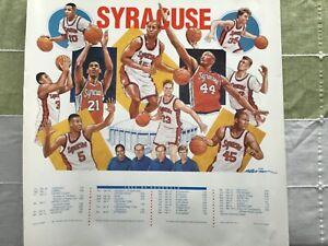 """Syracuse Orangemen 1993-1994 Men's Basketball Poster 26"""" x 26"""" Moten -  Wallace"""