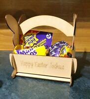 Easter Egg Bunny Rabbit Basket Egg Hunt Kids Easter Gift MDF Personalised
